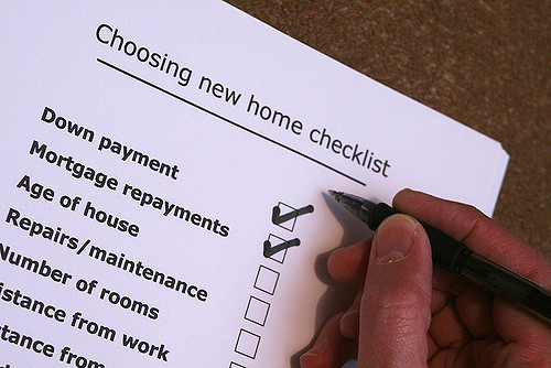 Choosing New Home Checklist
